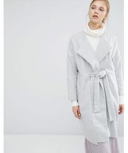 Paisie | Пальто-Кокон С Запахом И Поясом Серый