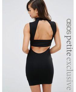 ASOS PETITE | Облегающее Платье Без Рукавов С Высокой Горловиной Черный