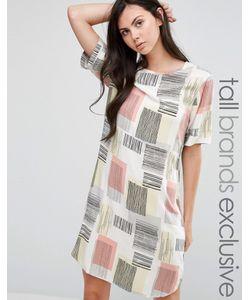 ADPT Tall | Платье-Футболка С Графическим Принтом Мульти