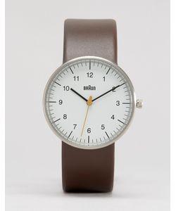 Braun | Классические Часы С Кожаным Ремешком Коричневый