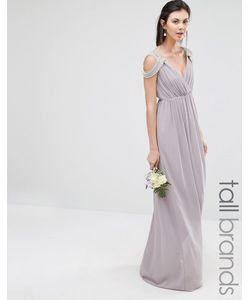 TFNC Tall | Платье Макси С Открытыми Плечами И Запахом Wedding