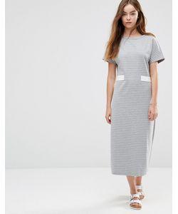 Shades of Grey | Платье Миди В Полоску С Отделкой В Виде Пояса Shades Of