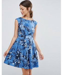 Closet | Платье С Винтажным Цветочным Принтом И Завязкой Сзади