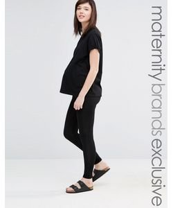 Club Lounge Maternity   Леггинсы Для Беременных Club L Lounge Maternity Черный