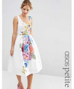 ASOS PETITE | Платье Миди Для Выпускного С Цветочным Принтом Salon