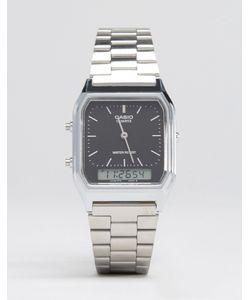 Casio | Аналоговые И Цифровые Часы Серебристого Цвета Aq230a-1ds Серебряный