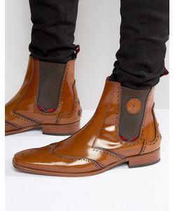 Jeffery west | Кожаные Ботинки Челси Scarface Рыжий