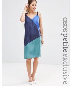 ASOS PETITE | Шелковое Платье-Сорочка В Стиле Колор Блок Мульти