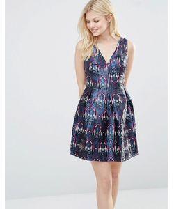 Glamorous | Короткое Приталенное Платье С Принтом Фиолетовый