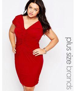 Goddiva plus | Платье С Драпировкой Красный