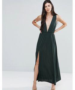 Pixie & Diamond | Платье Макси С Глубоким Vобразным Вырезом