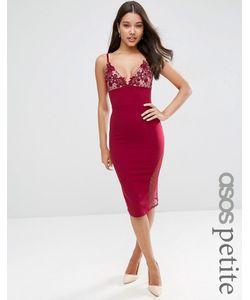 ASOS PETITE | Облегающее Платье Миди Burgundy