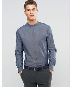 Silver Eight | Рубашка Узкого Кроя С Воротником На Пуговице Серый