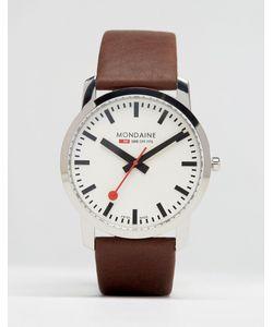 Mondaine | Часы С Коричневым Кожаным Ремешком 41 Мм Коричневый