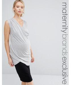Club Lounge Maternity | Трикотажный Топ Без Рукавов С Запахом Для Беременных Club L Lounge