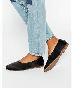 Vagabond | Атласные Туфли На Плоской Подошве Ayden Черный