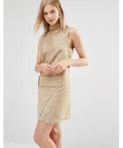 Shades of Grey | Платье Мини Из Искусственной Замши С Заниженной Талией