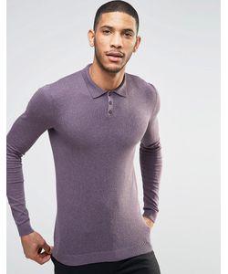 Asos | Фиолетовое Облегающее Поло Фиолетовый