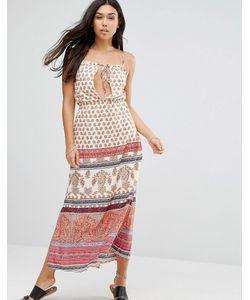 Anmol | Пляжное Платье Макси С Принтом Красный Многоцветный