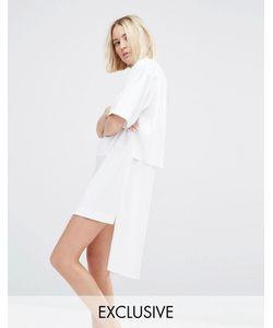 House of Sunny | Платье-Рубашка На Молнии Белый
