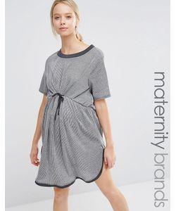 Bluebelle Maternity | Короткое Приталенное Платье Для Беременных Серый