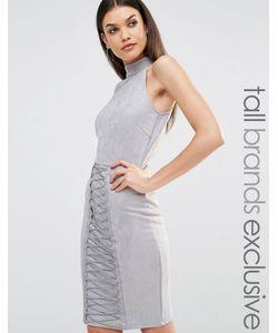 NaaNaa Tall | Платье-Футляр С Высокой Горловиной Серо-Синий