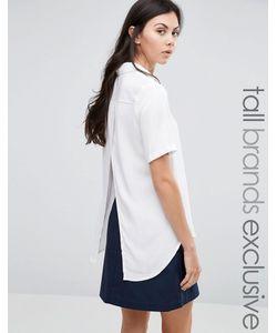ADPT Tall | Рубашка С Короткими Рукавами И Запахом Белый
