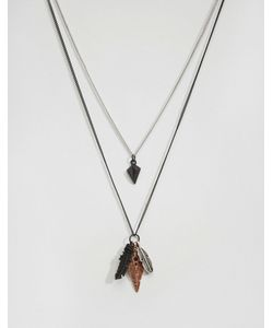 Icon Brand | Два Ожерелья С Подвесками Черный
