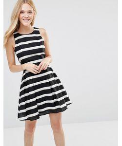 Greylin | Платье В Полоску Ava Черный