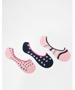 PENGUIN | 3 Пар Носков Розового/Лаймового Цвета