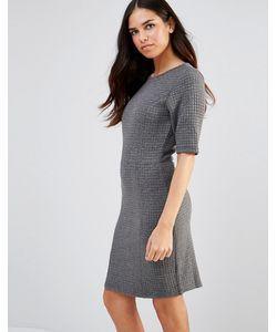 Poppy Lux | Трикотажное Цельнокройное Платье Со Стеганым Дизайном Sonya Серый