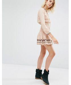 Gat Rimon | Бледно-Розовое Платье С Присборенной Талией Nabi Boho Роза