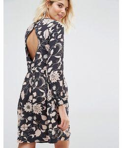 Gat Rimon | Платье С Длинными Рукавами И Цветочным Принтом Moco
