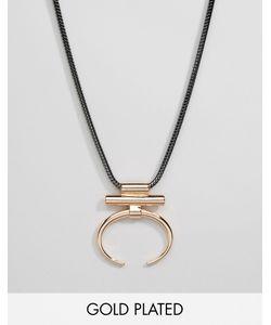 Pilgrim | Ожерелье С Геометрической Подвеской Розовое Золото