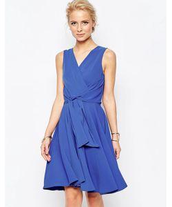 Closet | Короткое Приталенное Платье С Завязкой Спереди Close