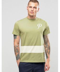 Playground | Футболка С Логотипом И Полоской Team P Зеленый