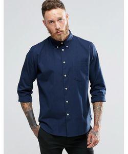 PS PAUL SMITH | Темно-Синяя Оксфордская Рубашка Классического Кроя Paul Smith Темно-Синий