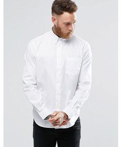 PS PAUL SMITH   Белая Оксфордская Рубашка Классического Кроя С Карманом Paul Smith Белый
