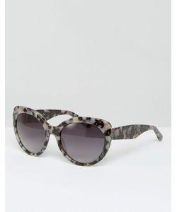 Pala | Массивные Солнцезащитные Очки Кошачий Глаз Amara Серый Черепаховый Принт