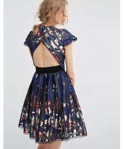 Foxiedox   Коктейльное Платье С Вырезом На Спине Bryonia Мульти