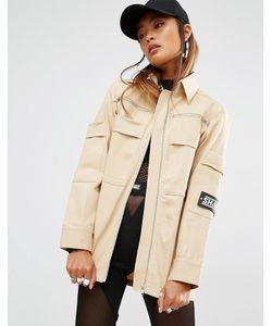 SHADE London | Oversize-Куртка В Стиле Милитари Кремовый