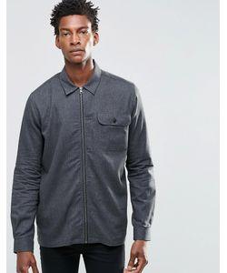 ADPT | Куртка В Стиле Рубашки На Молнии Черный