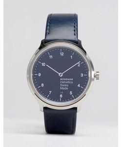 Mondaine | Классические Часы С Темно-Синим Ремешком Helvetica No1 40mm Темно-Синий