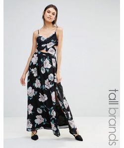Missguided Tall | Платье Макси С Перекрестом И Цветочным Принтом Мульти