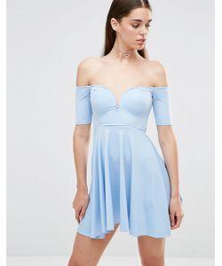 Twin Sister | Приталенное Платье Нежно-Голубой