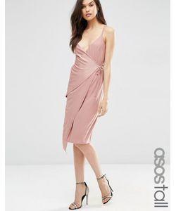 ASOS TALL | Платье Миди С Запахом Сумеречно-Розовый