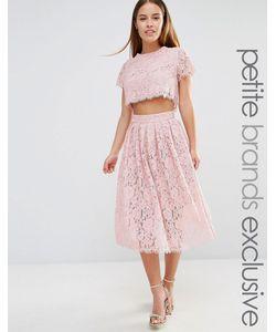 True Decadence Petite | Короткое Приталенное Платье Для Выпускного 2 В 1 Из Кружева True