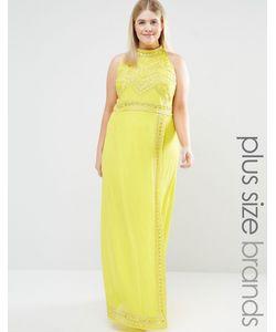 Lovedrobe Luxe | Декорированное Платье Макси С Высокой Горловиной Желтый
