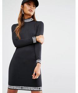 SHADE London | Облегающее Платье С Высокой Горловиной Черный