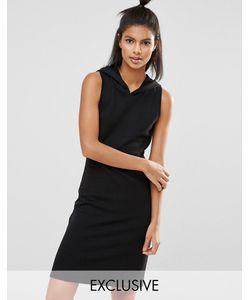 Nocozo | Короткое Платье С Капюшоном Черный